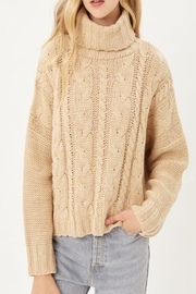 Love Tree Solid Turtleneck Warm Knit Top - Front cropped