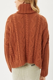 Love Tree Solid Turtleneck Warm Knit Top - Other