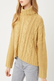 Love Tree Solid Turtleneck Warm Knit Top - Product Mini Image