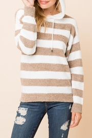 Love Tree Striped Hooded Top - Product Mini Image