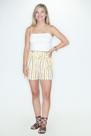 Love Tree Striped Shorts - Product Mini Image