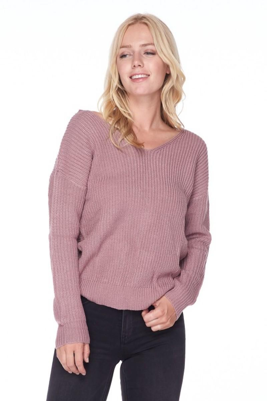 Love Tree Sweater With a Twist - Front Cropped Image
