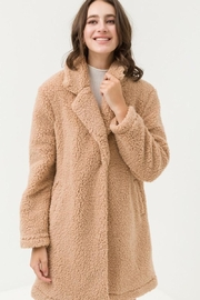 Love Tree Teddy Camel Coat - Front cropped