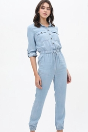 Love Tree Tencel Buttoned Jumpsuit - Product Mini Image