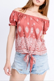 Love Tree Tie-Front Crop Blouse - Product Mini Image