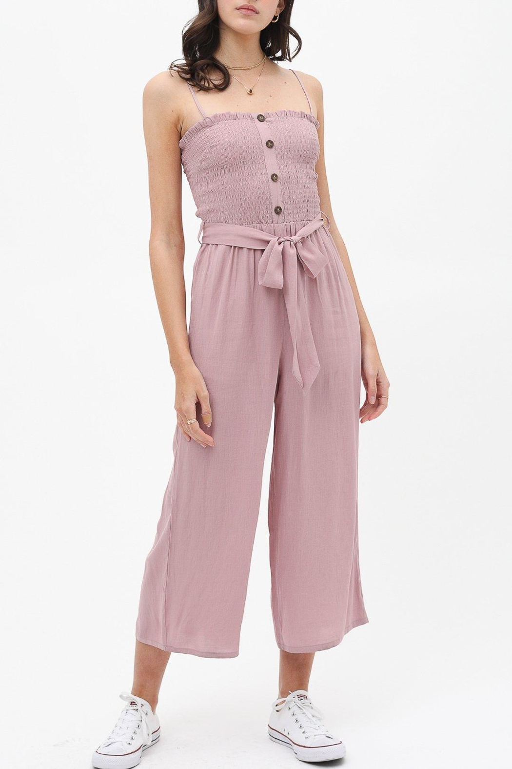 Love Tree Tie-Front Jumpsuit - Front Cropped Image