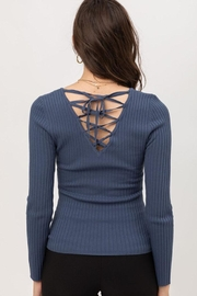Love Tree Tie-Up Back Top - Back cropped