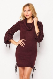 Love Tree Turtleneck Fitted Casual Long Dress - Front cropped