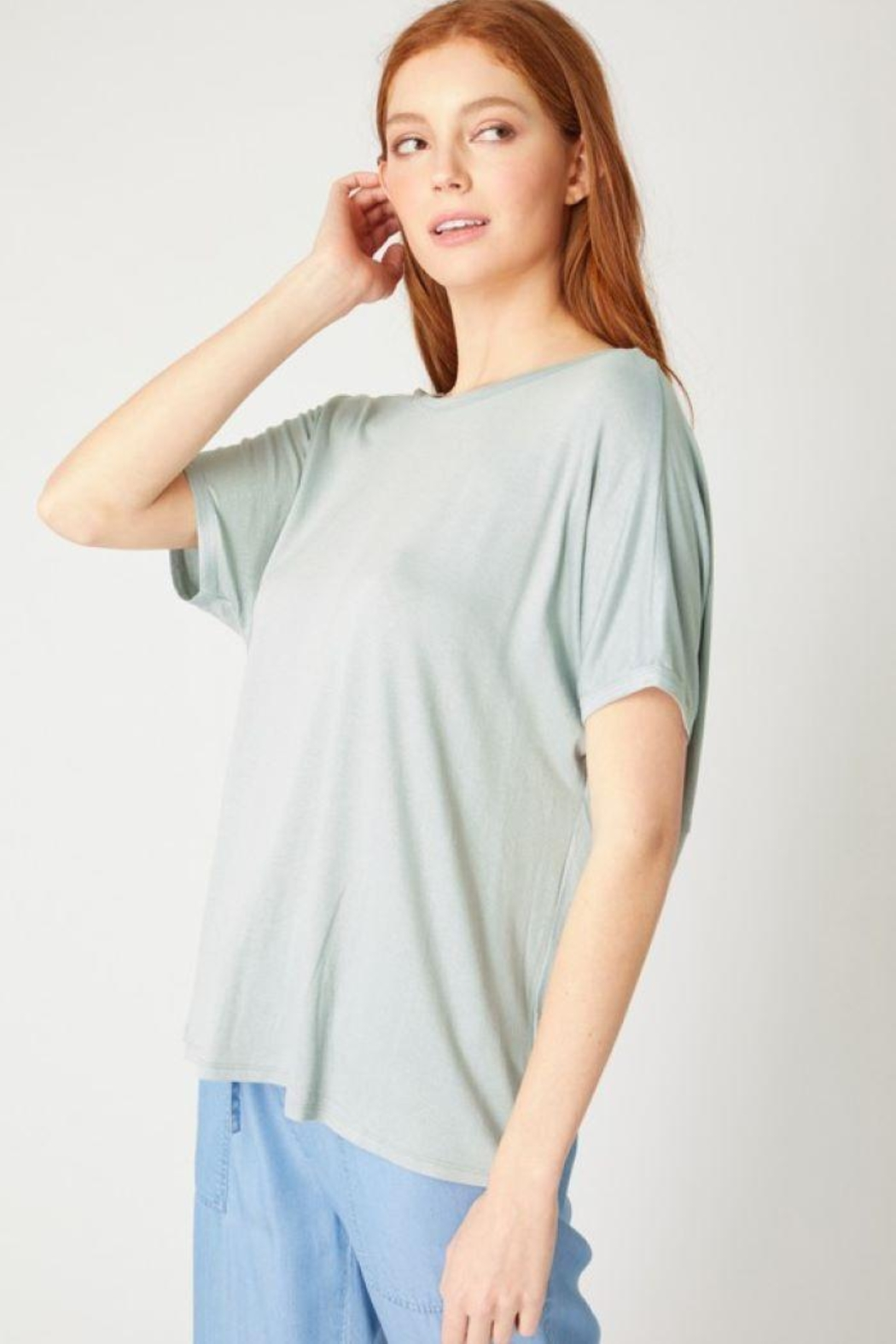 Love Tree Twisted Back Knit Top - Side Cropped Image