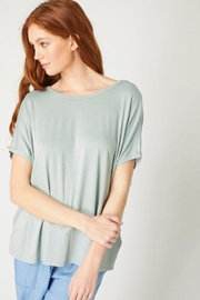 Love Tree Twisted Back Knit Top - Front cropped