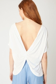 Love Tree Twisted Back Knit Top - Back cropped