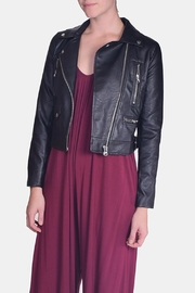 Love Tree Vegan Leather Jacket - Front cropped