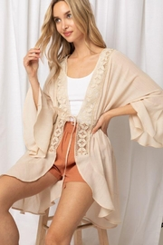 Love Tree Woven Fashionable Cardigan - Product Mini Image