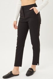 Love Tree Woven Solid Formal Ankle Pants - Back cropped