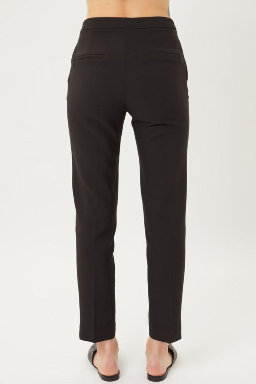 Love Tree Woven Solid Formal Ankle Pants - Front Full Image