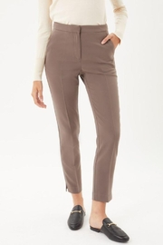 Love Tree Woven Solid Formal Ankle Pants - Front full body