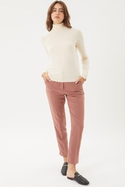 Love Tree Woven Solid Formal Ankle Pants - Front cropped