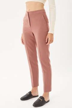 Love Tree Woven Solid Formal Ankle Pants - Alternate List Image