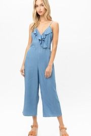 Love Tree Woven Solid Ruffled Jumpsuit - Other