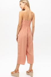 Love Tree Woven Solid Ruffled Jumpsuit - Back cropped