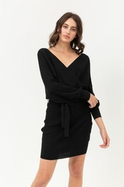 Love Tree Wrapped Sweater Dress - Product Mini Image