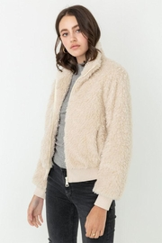 Love Tree Zip-Up Teddy Coat - Front cropped