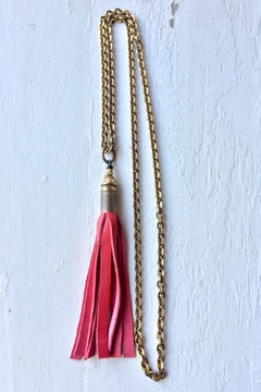 Shoptiques Product: Coral Leather Tassel