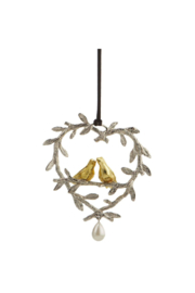 The Birds Nest LOVEBIRDS ORNAMENT - Product Mini Image