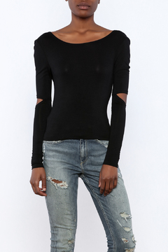 Shoptiques Product: Long Sleeve Cut Out Top