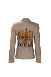 HIPCHIK  Loved Gray Blazer - Front cropped