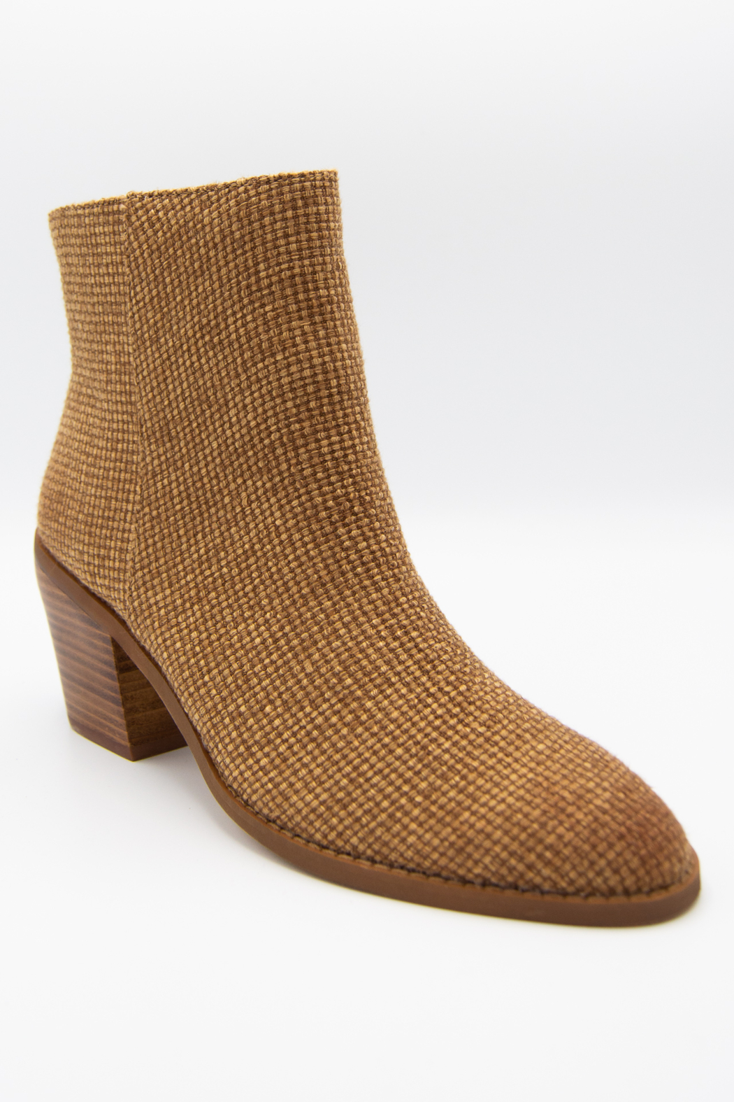 Band Of Gypsies Loveland Woven Jute Canvas Booties - Front Full Image
