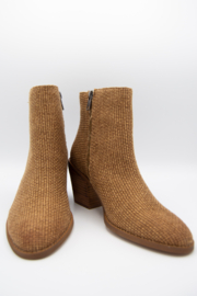 Band Of Gypsies Loveland Woven Jute Canvas Booties - Front cropped