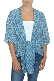 LOVEleigh Blue Alligator Kimono - Front cropped