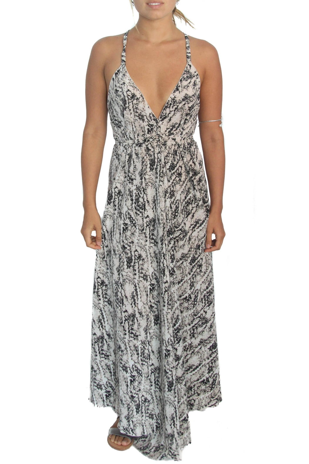 LOVEleigh Noosa Dress Nude - Front Cropped Image