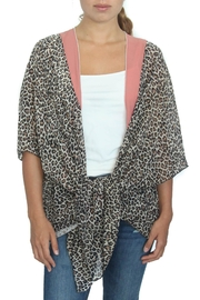 LOVEleigh Pink Leopard Kimono - Front cropped