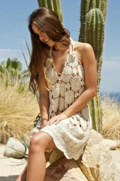 LOVEleigh Short Crochet Dress - Product List Image