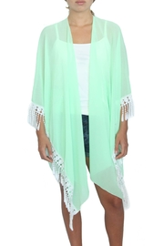 LOVEleigh Watermelon Tasseled Kimono - Product Mini Image