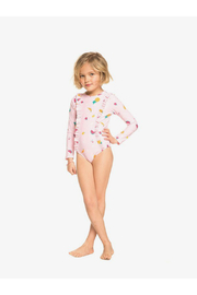 Roxy Lovely Aloha Long Sleeve Zipped UPF 50 One-Piece Rashguard - Side cropped