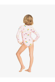 Roxy Lovely Aloha Long Sleeve Zipped UPF 50 One-Piece Rashguard - Back cropped