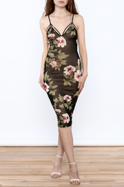 Lovely Day Black Floral Mesh Dress - Product Mini Image