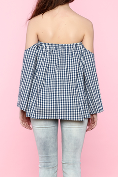 Shoptiques Product: Gingham Off The Shoulder Top