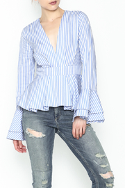 Lovely Day Long Sleeve Stripe Blouse - Front cropped
