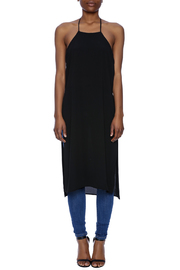 Lovely Day Sheer Black Long Tunic - Front cropped