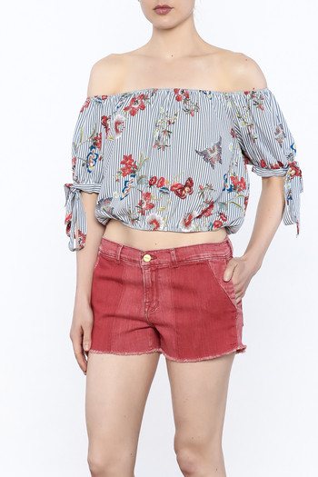 Lovely Day Stripe Print Top - Main Image