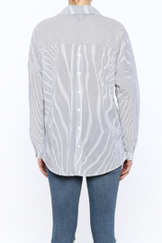 Lumiere Stripe Top - Back cropped