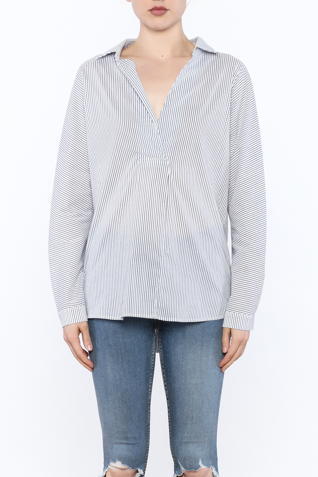 Lumiere Stripe Top - Front Full Image