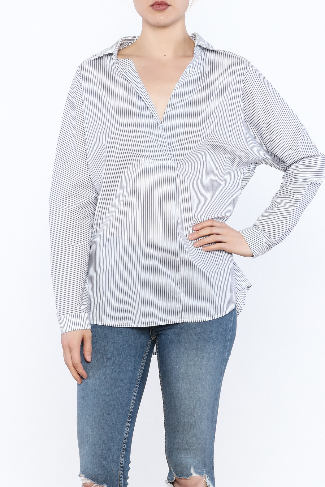 Lumiere Stripe Top - Front Cropped Image