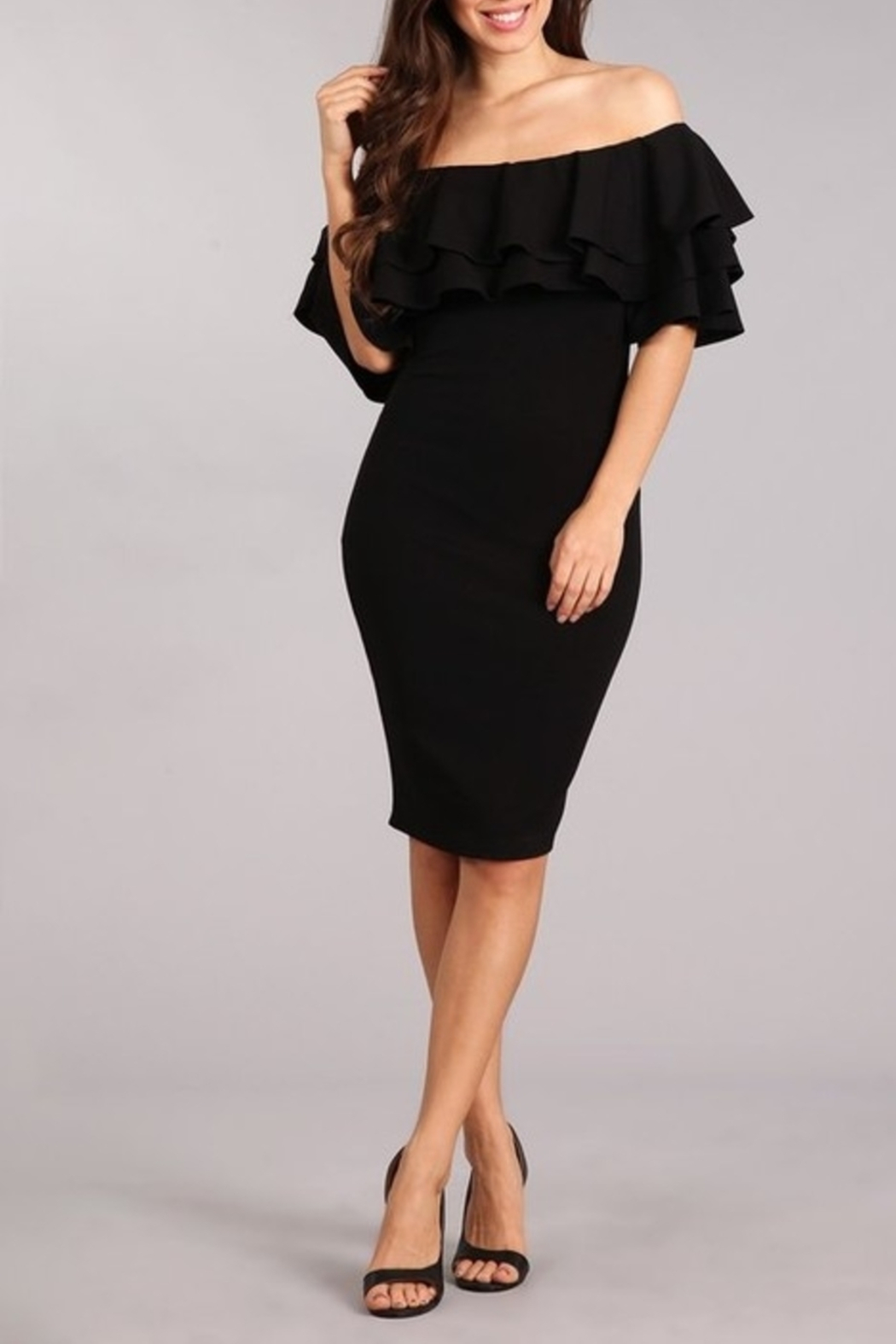 Blvd Lovely In Ruffles dress - Front Cropped Image