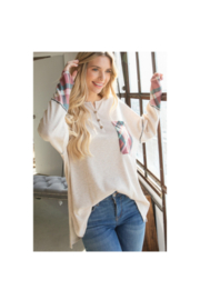 Lovely J Waffle Top - Front cropped