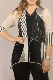 Variations  Lovely Lace Cardigan - Front cropped